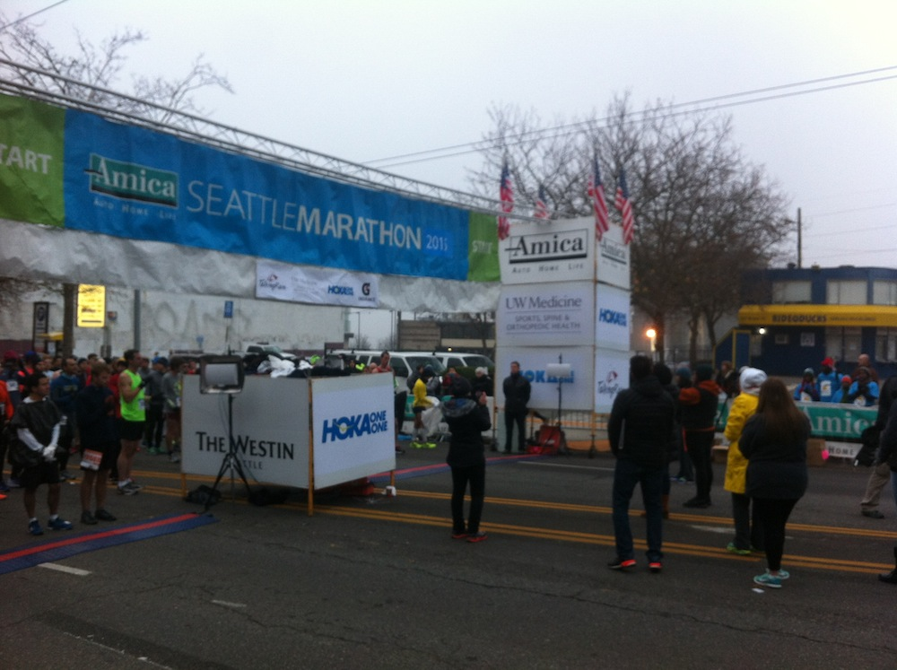 Start Line at the 2015 Amica Seattle Marathon