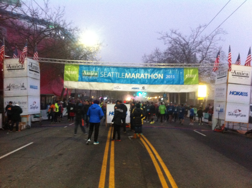 2015 Amica Seattle Marathon Start Line