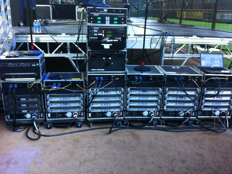 Crown I-Tech Amplifier Racks at Safeco Field for the 2015 Seattle Children's Hospital Fundraising Gala