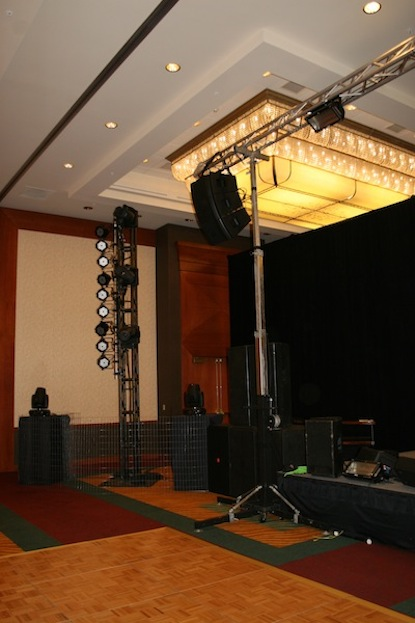 Stage Right Hangs, JBL VRX at Rainfurrest 2013